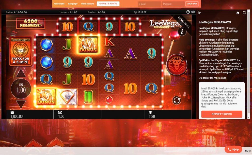 สล็อตออนไลน์ Leo Vegas Cluster Gems